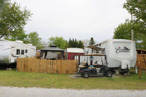 Trailer and all amenities needed for camping for sale on lot