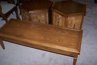 Coffee Table and 2 Matching Octagon Side Tables