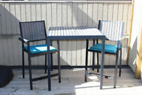 Outdoor dining set by Crate & Barrel