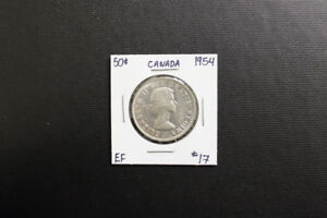 Canada 1954 50 Cent Coin
