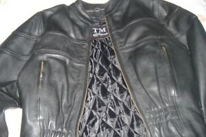 MEN'S TM GENUINE LEATHER MOTORCYCLE JACKET M/L
