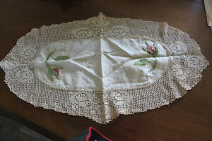 Vintage Linen  ( hand made / crocheted & embroidered )