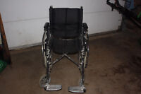QUICKIE QXI WHEELCHAIR WITH PREMIUM BACK AND CUSHION