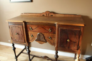 Antique buffet partially refinished