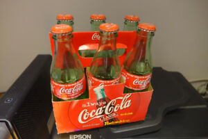 Collector 6 Pack of Coca Cola Bottles