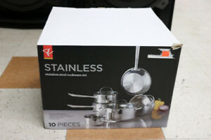 10pc Stainless Steel Cookware Set (#2004)