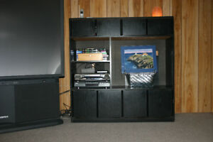 Black Melamine Media Cabinet - FREE