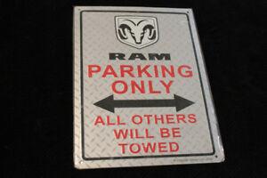 Dodge parking tin sign