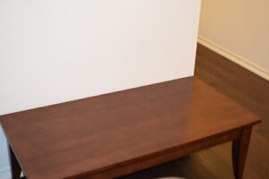 Wooden Coffee Table with 2 End Tables