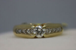 Appraised 14K Yellow Gold Diamond Engagment Ring Size 4 (#14456)