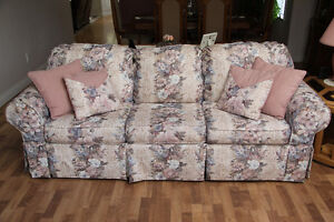 Chesterfield (hide a bed) with matching love seat