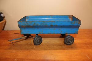 Vintage Tin Toy Farm Wagon - Blue London Ontario image 1