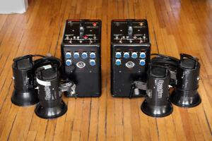2 Speedotron 2400 watt Flash Kits