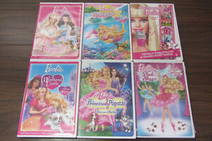 Barbie DVD's (each sold separately)