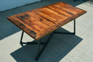 Custom Dining Tables made from Reclaimed Barn Wood