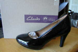 Black Patent Clark Shoes high heels