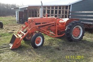 Allis Chalmers Tractor with 3 Plough , Large Disk and Cultivator