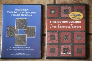 QUILTING FREE MOTION DVD'S  LEAH DAY