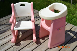 Little Tykes rocking chair and doll high chair