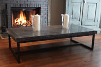 Local Salvaged Wood & Iron Coffee Table $1245 & more! By LIKEN.