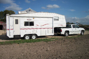 5th wheel trailer with truck