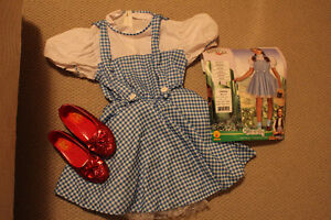 Reduced - Girls Dorothy Wizard of Oz Halloween Costume + Shoes