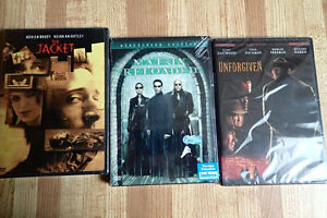 3 Unopened DVD (Matrix Reloaded, Unforgiven, The Jacket)