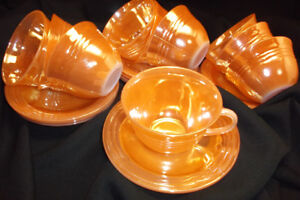 Fireking Lustreware Cups and SaucersREDUCED