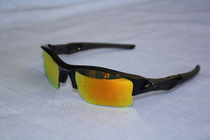 Oakley Flak Polarized Sunglasses with Fire Iridium Lenses