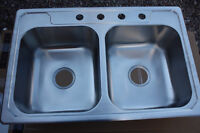 NEW - Stainless Steel Double Kitchen Sink