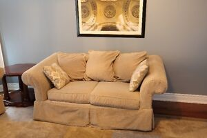 couch and loveseat for sale (used, as is) - $30 or best offer