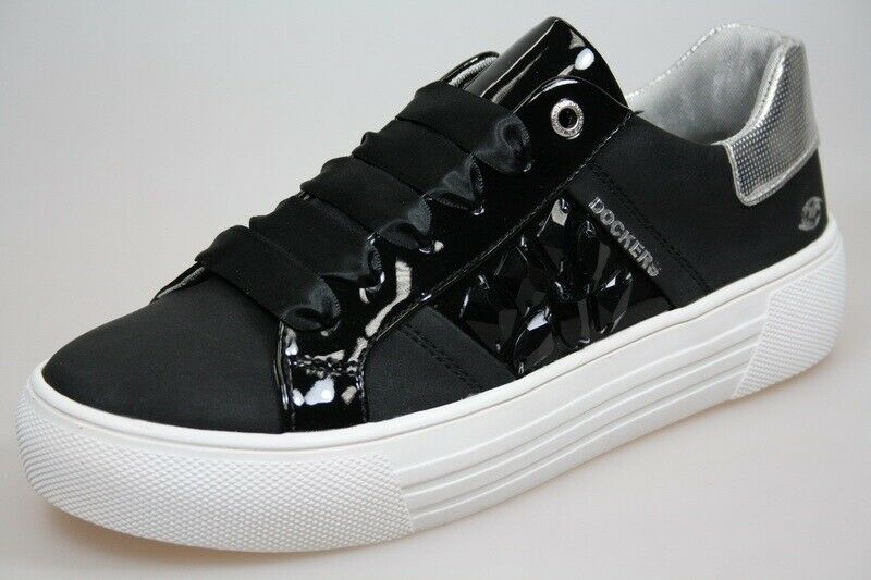 Dockers Damen Schuhe Sneaker Turnschuhe 42BM218-680 (schwarz 100)