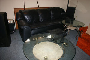 Round Glass Coffee Table and End Table