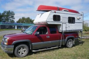truck with slide-in-camper for sale