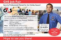 G4S Career Fair - Hiring Retail Season Security Guards-$14+/hour