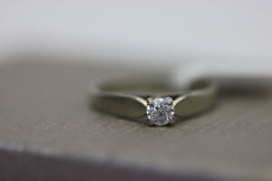 **SAY YES!** 14k White Gold Engagement Ring (#15383)