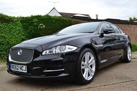2012 JAGUAR XJ 3.0 TD V6 PREMIUM LUXURY BLACK AUTOMATIC SALOON DIESEL