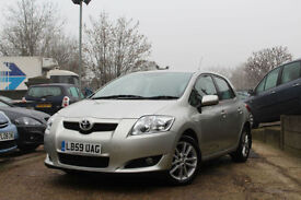 2009 Toyota Auris 1.6 V-Matic TR 53K MILES, DUAL CLIMATE CONTROL & ALLOY WHEELS