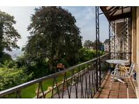 Light filled 2BR balcony apartment on Cornwallis Crescent with spectacular communal gardens