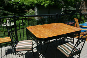 Wrought Iron Patio Set-  NEW PRICE