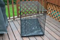 Cage à chien de 36 pouces à double plateau