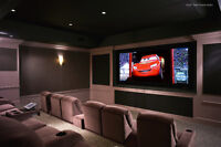 Home Theater install - TV wall mounting - Surround Sound hook up
