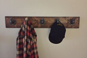 Coat rack - black iron pipe & pine (Locally Made)