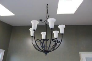 6 frosted metal light fixture