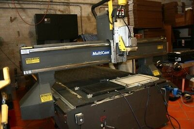 Used Multicam 5204 Cnc Router 2007 120 X 60 Table 24000 Rpm Vacuum Pump
