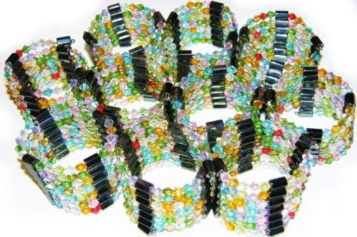 """10 Magnetic Hematite Wrap Bracelet Necklace Lot Mix 35"""""""