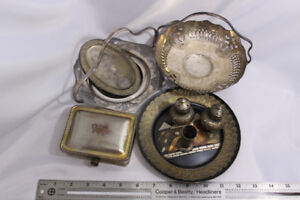 Silver Plate and Decor Set