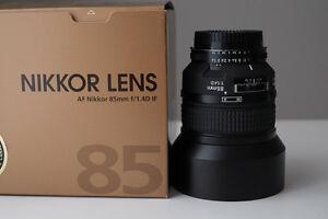 Nikkor Lens:  AF 85mm 1:1.4D