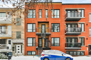 Two-Storey 2 Bedroom Condo With 3 Balconies ~ Montreal Sud Ouest