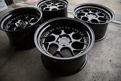 19x9.5 +22 |19x10.5 +15 Aodhan DS01 5x114.3 Black Rims Fits 350Z 370Z G35 (Used)